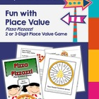 Pizza Pizzazz! Place Value Game - Math Center - Math Workstation