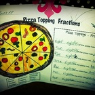 Pizza Topping Fractions Worksheet