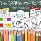 Place Value Activities and Games {Thousands}