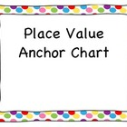 Place Value Anchor Chart - Polka Dots