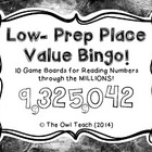 Place Value Bingo Game Boards and Directions