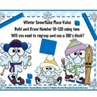 Place Value Build: Snowflakes Build Theme Winter/Snowflakes