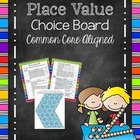 Place Value Cafe Activity Menu