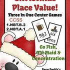 Place Value Christmas Concentration, Go Fish & Old Maid fo