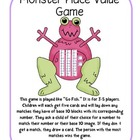 Place Value Game - Monster Theme