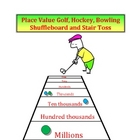 Place Value Games - Golf, Hockey, Bowling, Shuffleboard &