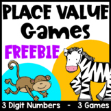 Place Value Games for 3 Digit Numbers Freebie