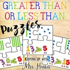Place Value Greater Than, Less Than or Equal To Puzzles