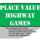 Place Value Highway 2 Game Set (Also has Rounding )