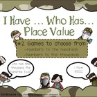 Place Value I Have Who Has Games