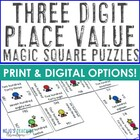 Place Value Magic Square (Standard, Expanded, and Word For