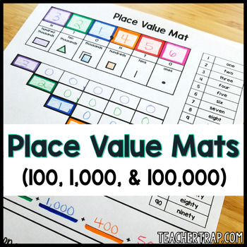 Place Value Mat to Hundred Thousands