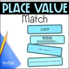 Place Value Match - Larger Numbers