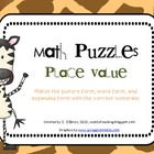 Place Value Math Puzzles (15 different puzzles)