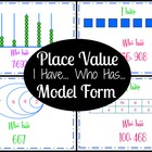 Place Value Model Form I have Who has