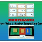 Place Value &amp; Number Composition Cards  {Montessori}