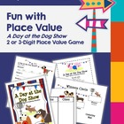 Place Value & Ordering Numbers Game - Dog Show - Math Center