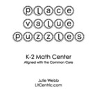 Place Value Puzzles Math Center