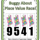 Place Value Race Game Buggy About Spring Theme
