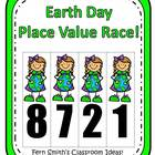 Place Value Race Center Game - Earth Day Version