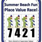 Place Value Race Game Gator Summer Beach Fun