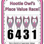 Place Value Race Center Game - Hootie Owl Version