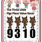Place Value Race Game Three Little Pigs Theme By Fern Smith