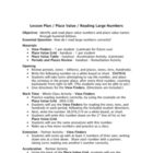 Place Value Reading Large Numbers - View Finder - Lesson Plan