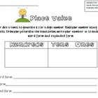 Place Value Recording Sheet with 100 chart