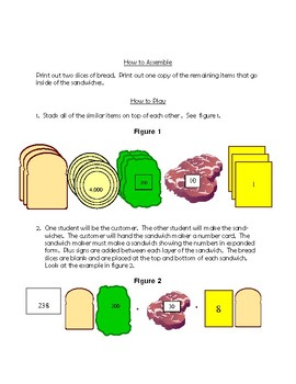 Place Value Sandwiches: Free Place Value Game