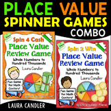 Place Value Math Games (Spin 4 Cash and Spin 2 Win)
