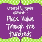 Place Value Through the Hundreds Set