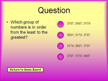 Place Value Tic-Tac-Toe PowerPoint Game--Whole Numbers
