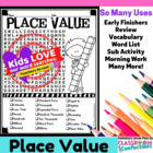 Place Value Word Search