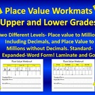 Place Value Workmats-Grades 3-5-Dry Erase- Practice