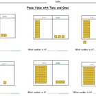 Place Value Worksheets-Using Tens and Ones Base Ten Blocks