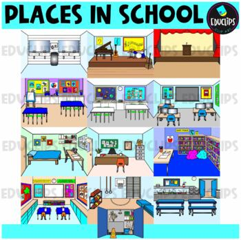Places In School Clip Art Bundle