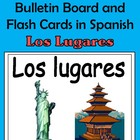 Places (Los lugares) Bulletin Board and Flash Cards in Spanish