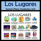 Places Vocabulary Activities & Games Unit in Spanish (Los