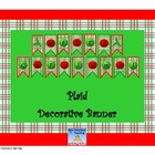 Plaid Christmas Banner (For You and a Friend!)