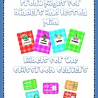 Plaid cover binder pages and labels for each classroom center
