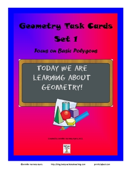 Plain Ole Plane Geometry Task Cards Set 1