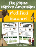 FREE Plains Native Americans Worksheet Modified for Lower