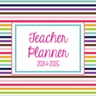 Plan and Go Teacher Lesson Planner 2014-2015 {Stellar Stri