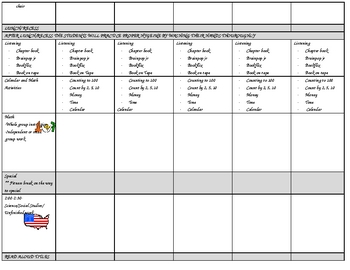 Planbook: Weekly Template