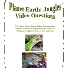 Planet Earth: Jungles Video Questions
