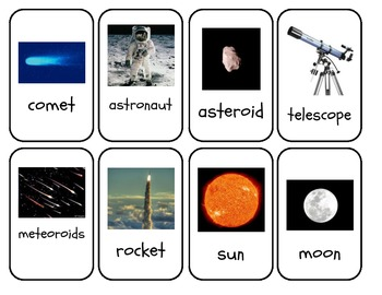 Planet and Space Vocabulary Cards