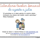 Planning Calendar for Spanish Teachers