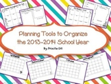 Planning Calendars and Tools for the 2013-2014 School Year