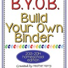 B.Y.O.B: Build Your Own Binder for Homeschoolers